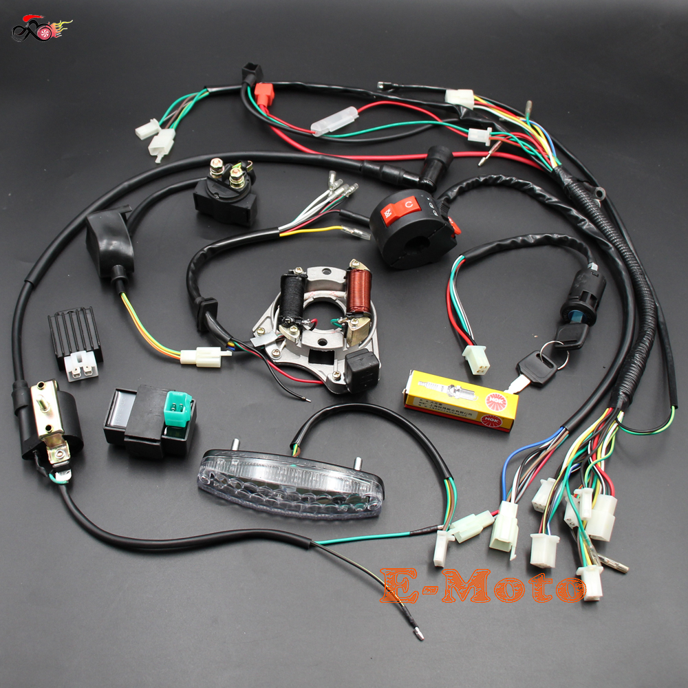 Wiring Harness Wireloom 50cc 110cc 125cc Atv Quad Bike 110 Stator Diagram Popular Buy Cheap