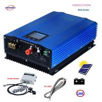 1000 W la descarga de la batería Auto-límite Solar MPPT DC24V V 48 V 72 V AC110V 220 v 230 V de la red inversor con limitador de Sensor de inversor