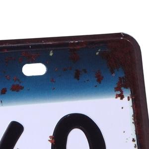 Image 5 - QILEJVS 米国ヴィンテージ金属スズ看板車のナンバープレートのポスターバークラブ壁ガレージ家の装飾 16*30 センチメートル