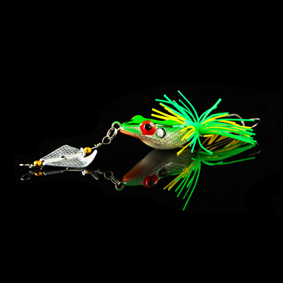WALK FISH 1PCS Hard Fishing Lure With Propeller Large Noise Isca Frog Lure 135mm 9g Pesca Frog Sinking Snakehead Bait Fishing frog lure m