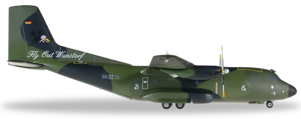 Fine rare Herpa 1/200 German Air Force C-160 Transport aircraft Luftwaffe 557849 Alloy aircraft model Collection model Holiday