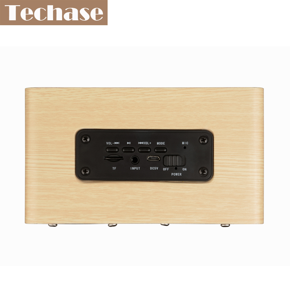 Techase Bluetooth Lautsprecher Bamboo Caixa De Som Drahtlose Mini - Tragbares Audio und Video - Foto 4