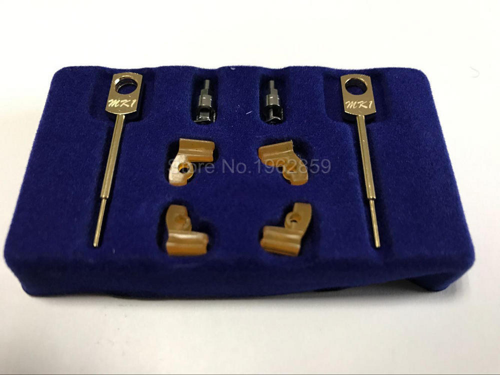 2 Sets/box Dental Lab Technician Instrument MK1 Attachments Parts for Metal Partials Dental Material Products