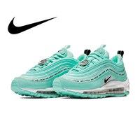 Original Authentic Nike Air Max 97 Women's Running Shoes Sports Outdoor Sneakers Shock Absorbing Designer Training AV3181 500