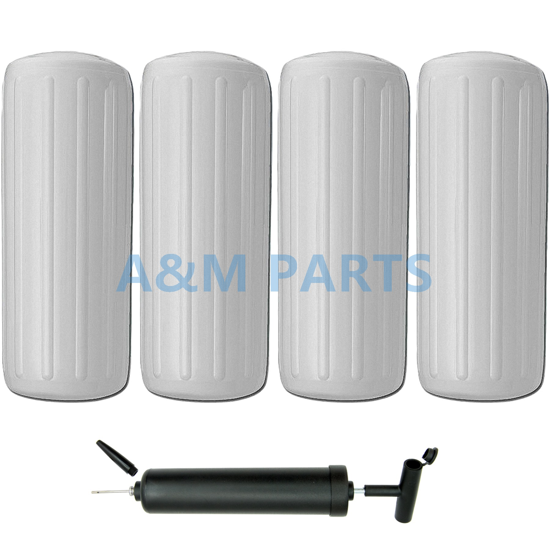 4 Marine Boat Inflatable Fenders 10 28 White Vinyl Docking Guard Center Hole