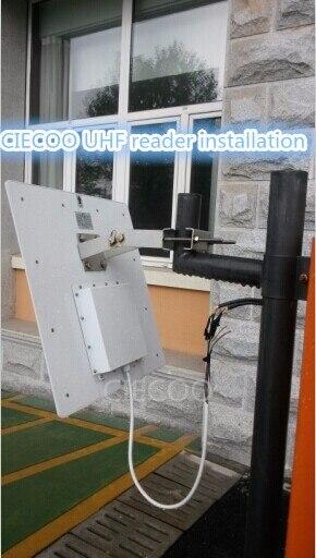 UHF Lecteur RFID Longue portée Lecteur RFID/8 à 15 m ISO18000 + SDK + Logiciel