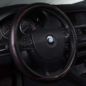 Car Steering Wheel Cover Genuine Leather Non Slip Accessories For HyundaiAccent 2010 Blue Creta Ix25 Ix 25 Elantra 2013 2017