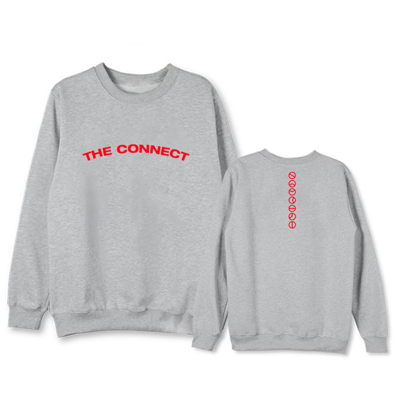 Nice K-pop Monsta X Album Take.1 Are You There Surrounding Clothes With The Same Paragraph Loose Round Neck Sweatshirts Women's Clothing