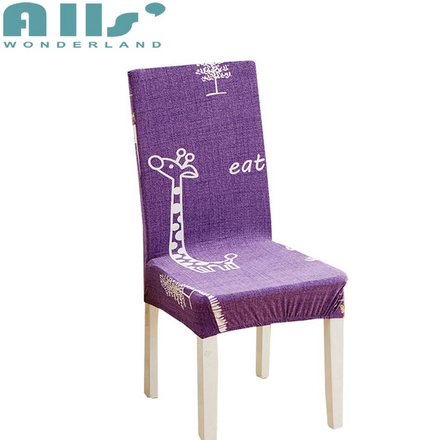 Purple Chair Covers for Weddings Fashion Cute Cartoon ...