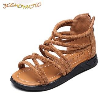 JGSHOWKITO Kleine Mädchen Gladiator Sandalen Mädchen Sommer Schuhe Baby Prinzessin Schuhe Kinder Gladiator Sandalen Zip Kleinkind Kinder Sandalen