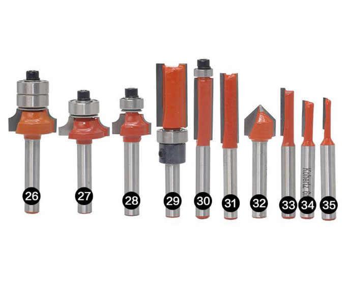 Frez 1 sztuk 6mm Shank drewna Router Bit prosto koniec frez trymer do czyszczenia Flush wykończenia zestaw frezów bitów narożnych stożkowych okrągłych narzędzia