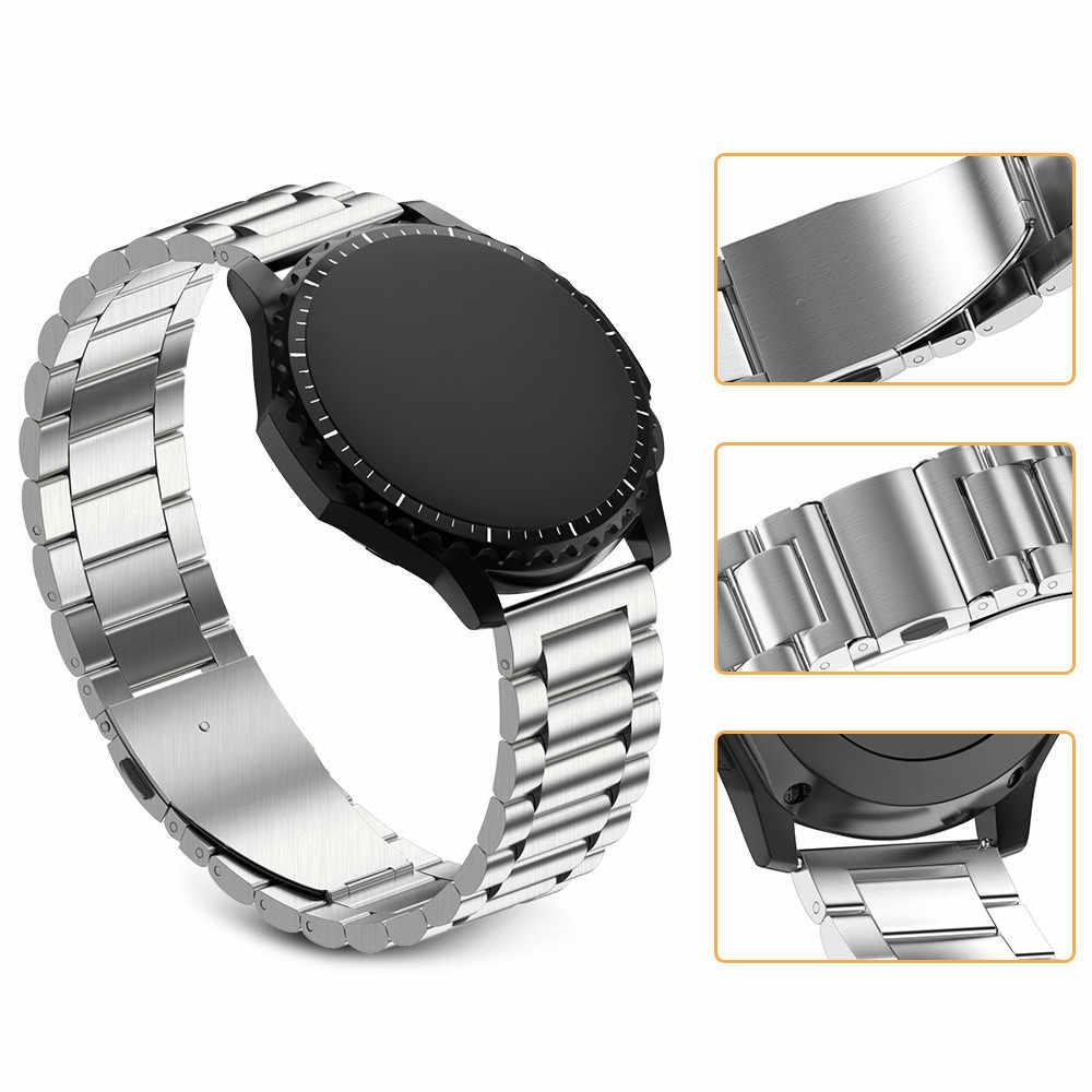 נירוסטה שעון להקת עבור Samsung הילוך S3 קלאסי מתכת רצועת עבור ציוד S3 חכם שעון 3 קישור רצועת השעון עם התאמת כלי