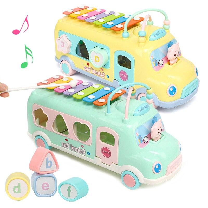 instrumento criancas musica piano de brinquedo musical do bebe onibus criancas classificador 8 note bater na