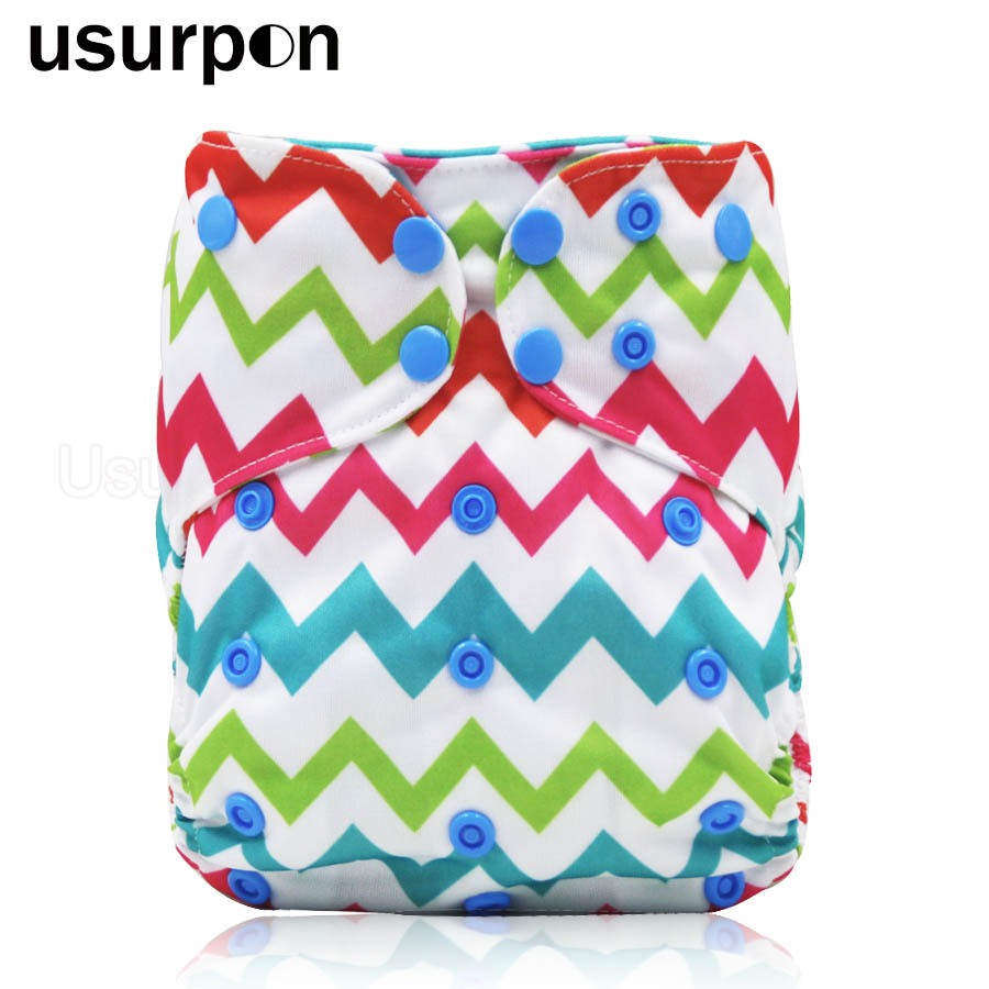 [usurpon] 1 Pc Baby Cloth Diaper With Pocket And Double Leg Gusset Baby Diaper Cloth Nappy Washable Cloth Diapers Baby