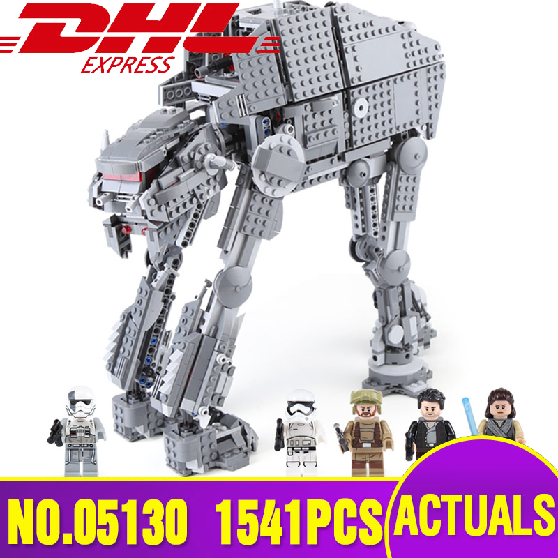 DHL 05130 Star Plan Wars Series The heavy walker Set Compatible With 75189 Set Building Blocks