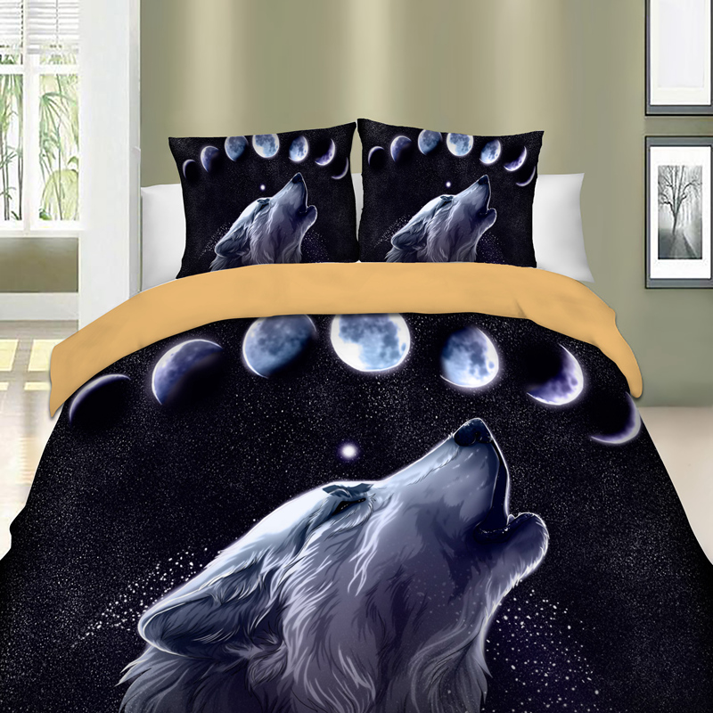 Wolves Printed Bedding Set For Comforter Duvet Cover Set With Pillowcases Bed Linens Set Queen King Twin Sizes Double Bedclothes