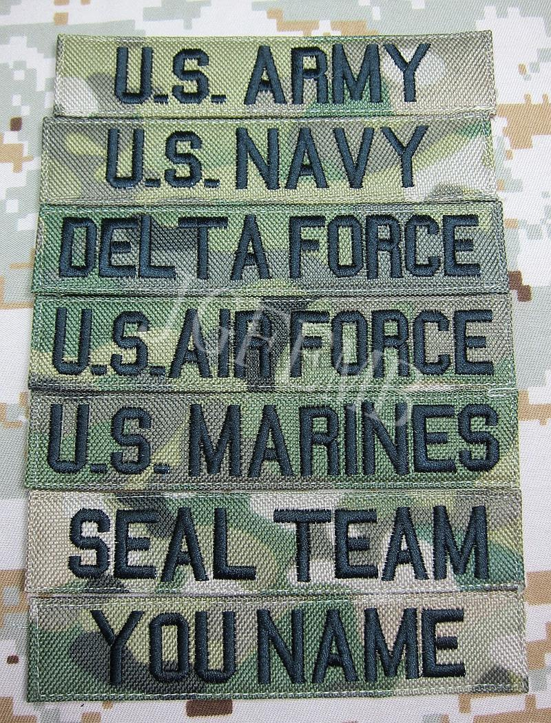 Nylon Multicam Custom Name tapes Chest Tapes Services Tapes moraal tactische militaire Borduren patch badges