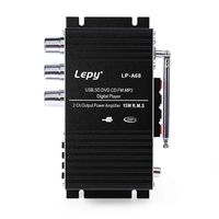 Lepy LP A68 HiFi 12V Stereo Audio Car Amplifier Multi Functional Support Mini USB SD FM