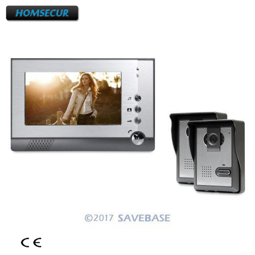 HOMSECUR 7 Video Door Phone Intercom System with Outdoor Monitoring for Home Security