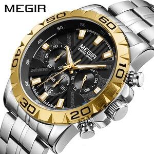 Image 1 - 2020 Nieuwe Megir Horloge Mannen Chronograph Quartz Bedrijvengids Heren Horloges Top Brand Luxe Waterdichte Polshorloge Reloj Hombre Saat