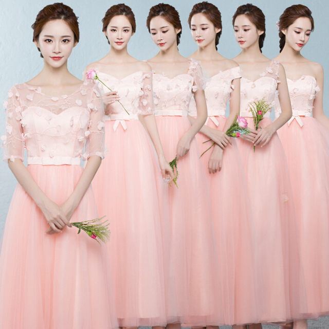 women long strapless bridesmaid dress beach peach gown formal bridal party  dresses for wedding occasions free shipping R3792 8044f5b88621