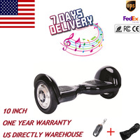 US Stock 10 Inch Self Balancing Bluetooth Unicycle 2 Wheels Electric Skateboard Stand Up Scooter Electric