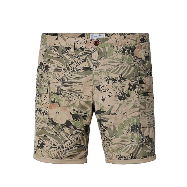 Simwood homens Shorts Casual 2016 Chegada Nova Marca de Verão Slim Fit Algodão Estampado Na Altura Do Joelho Plus Size Frete Grátis KD5024