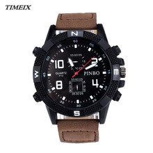 2017 Luxury Men's Canvas strap Large Dial Military Sport Quartz Watch Casual Wrist Watch Male Hot Sale Free Shipping,Dec 13*40