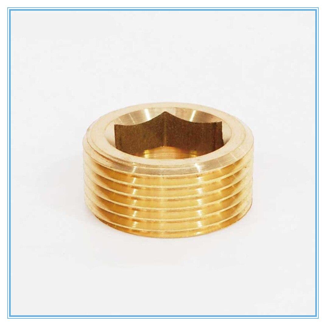 Diplomatisch Messing Armaturen Gold Ton 1/8 1/4 3/8 1/2 3/4 außengewinde Dia Interne Hex Buchse Kopf Rohr Stecker Fitting Kupfer Stecker Sanitär