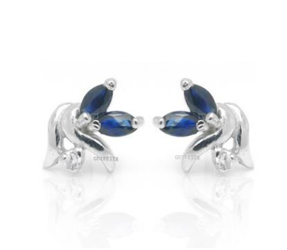 925 Silver Plated Platinum, refined earrings,