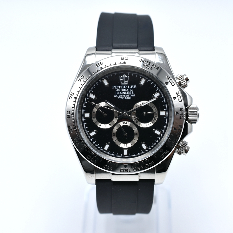 PETER LEE Brand Luxury Silicone Chronograph Automatic Mechanical Trendy Men Watch Sport Mens Military Watch Male PETER LEE Royal Oak | Nautica Watches | Brand Luxury Silicone Chronograph Automatic 40mm Mechanical Trendy Men Watch Sport Mens Military Watch Male Business Clock