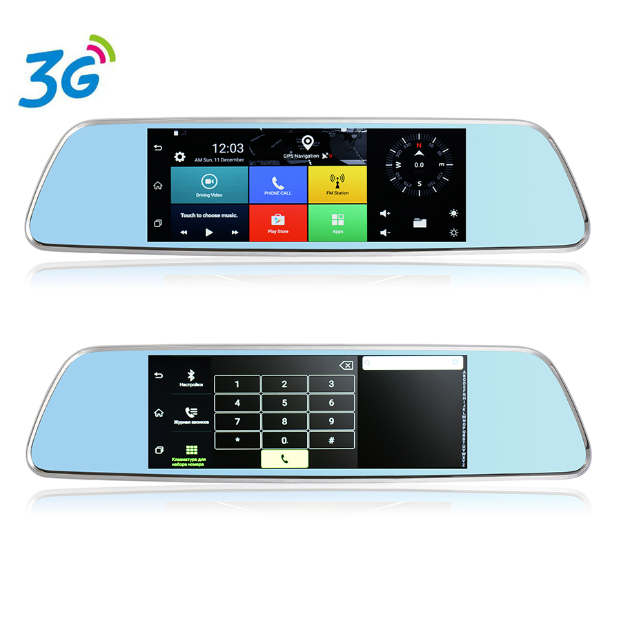 7 inch GPS Navigation Dashboard 3G DVR Android 5 0 Bluetooth Phone Call Full HD 1080P