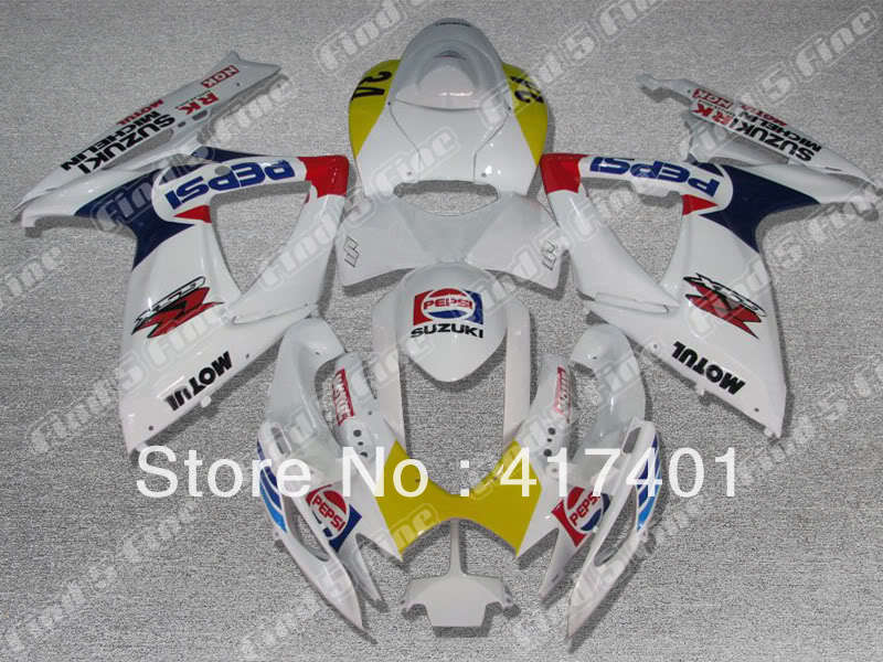 white yellow red blue for SUZUKI GSX R600 R750 06-07 GSXR 600 750 GSXR600 GSXR750 GSX-R600 GSX-R750 K6 06 07 2006 2007 fairing