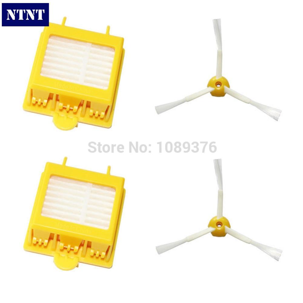 купить NTNT Free Post New 2 Filters + 2 Side Brush 3 Armed For iRobot Roomba 700 Series 760 770 780 дешево