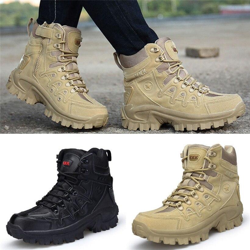Chaussures de sport en plein air pour homme résistant à l'usure chaussures de randonnée Étanche Anti-Dérapage Mâle En Cuir à lacets Bottes D'hiver basket chaude 0911