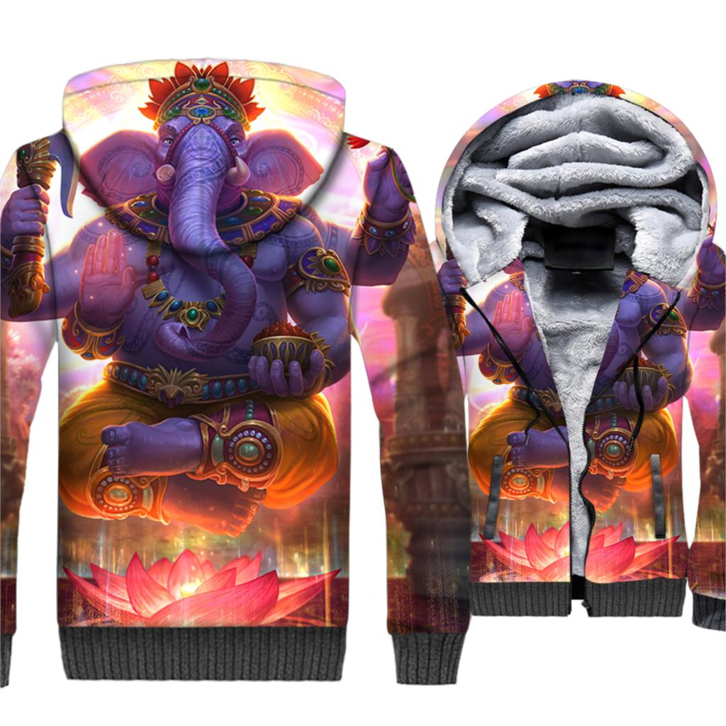 Indian amp Animal Elephant Printed 3D Hoodies Sweatshirts New Style 2019 Winter Jacket Men Casual Loose Fit Coat Men 39 s Tracksuit in Hoodies amp Sweatshirts from Men 39 s Clothing