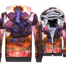 Indian & Animal Elephant Printed 3D Hoodies Sweatshirts New Style 2019 Winter Jacket Men Casual Loose Fit Coat Mens Tracksuit