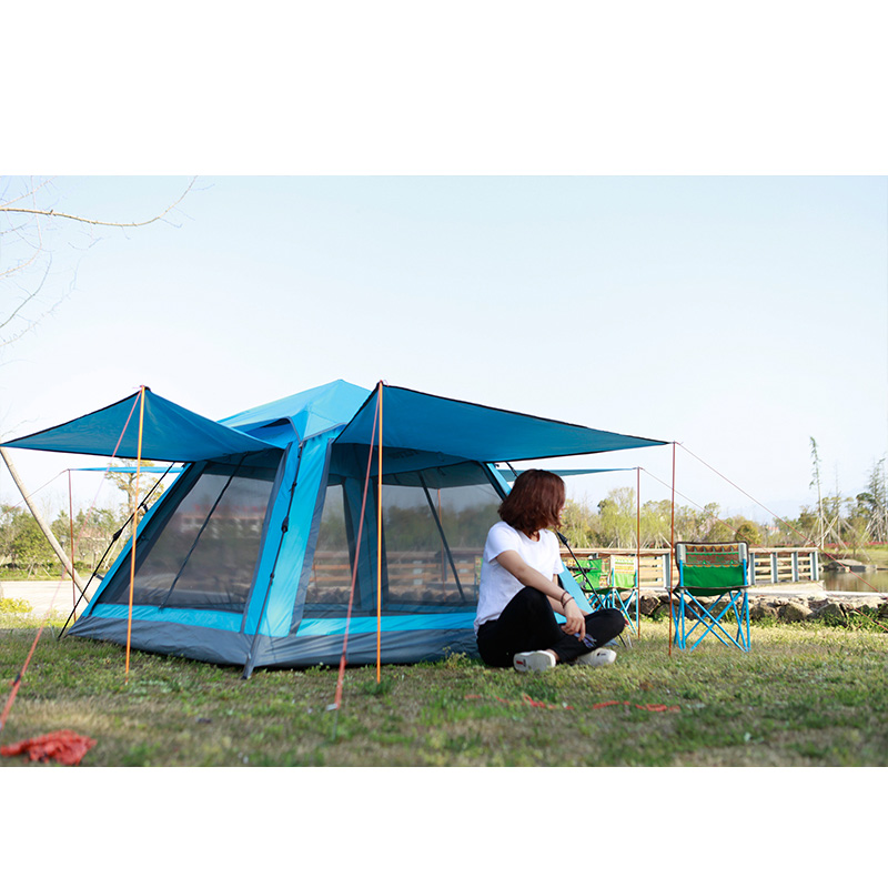 STARHOME Double Layers Camping Tent Large 3 4 5 Person Automatic Waterproof Tent Outdoor Single Family Tents high quality outdoor 2 person camping tent double layer aluminum rod ultralight tent with snow skirt oneroad windsnow 2 plus