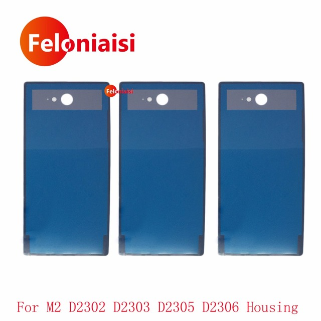 10Pcs/lot High Quality For Sony Xperia M2 D2302 D2303 D2305 D2306 Housing Battery Cover Door Rear Cover Chassis Frame Back Cover