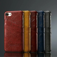Fasion Vintage Genuine Leather Case For IPhone7 7Plus Full Cover Back Case With Two Card Slots