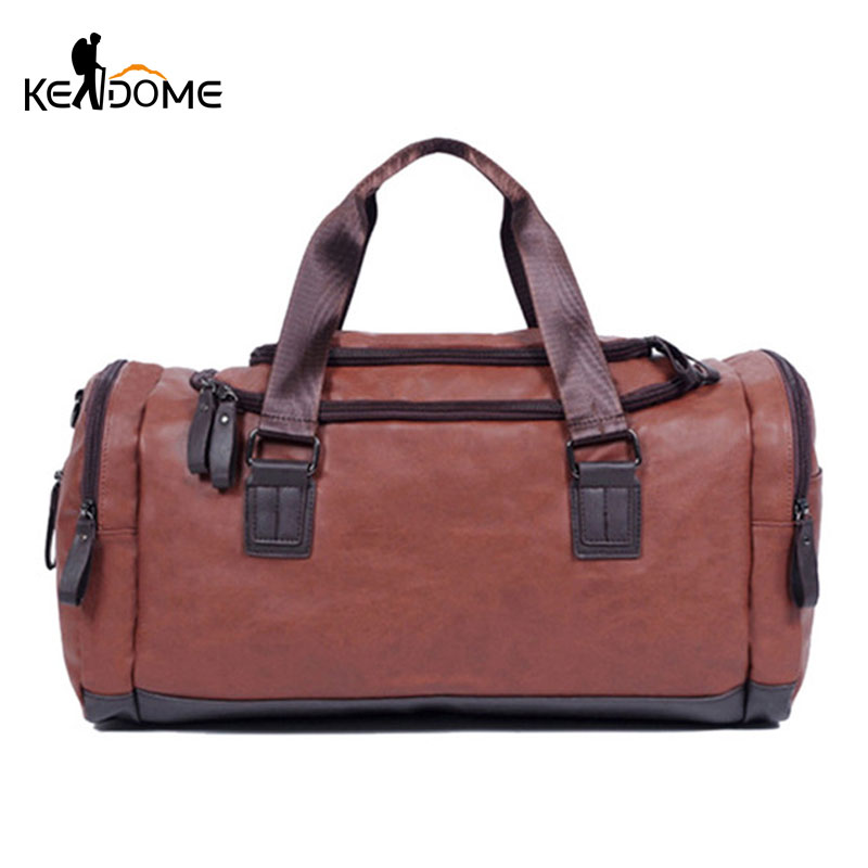 Novel Designs Delightful Colors And Exquisite Workmanship New Pu Soft Leather Fitness Gym Bags For Men Training Shoulder Sport Bags Unisex Gymnastic Handbag Travel Crossbody Bag Xa675wd Famous For Selected Materials