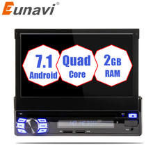 Eunavi 2G RAM Single 1 Din 7″ Android 7.1 Car DVD Player GPS Radio Stereo Universal 1024*600 Hd Head Unit With Wifi Touch Screen