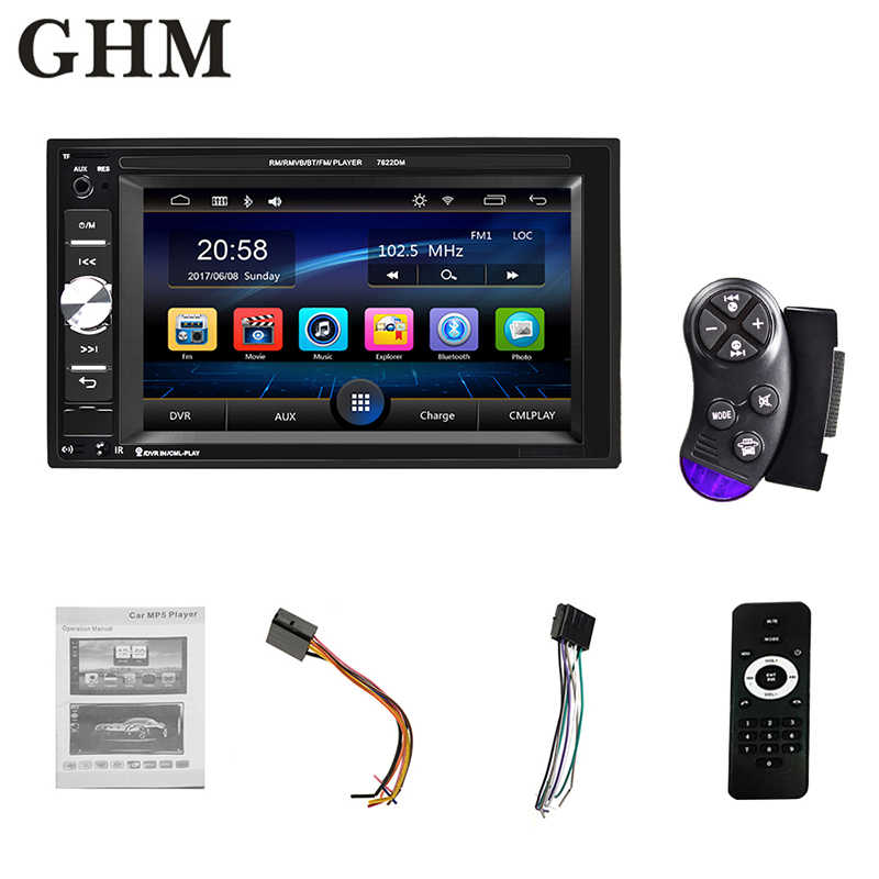 "2 Din Android Rádio Do Carro Do Bluetooth Multimídia 7 ""Hd Player Multimídia de Áudio Estéreo Do Carro da Tela de Toque Auto Mp5 Câmera mapa Universal"