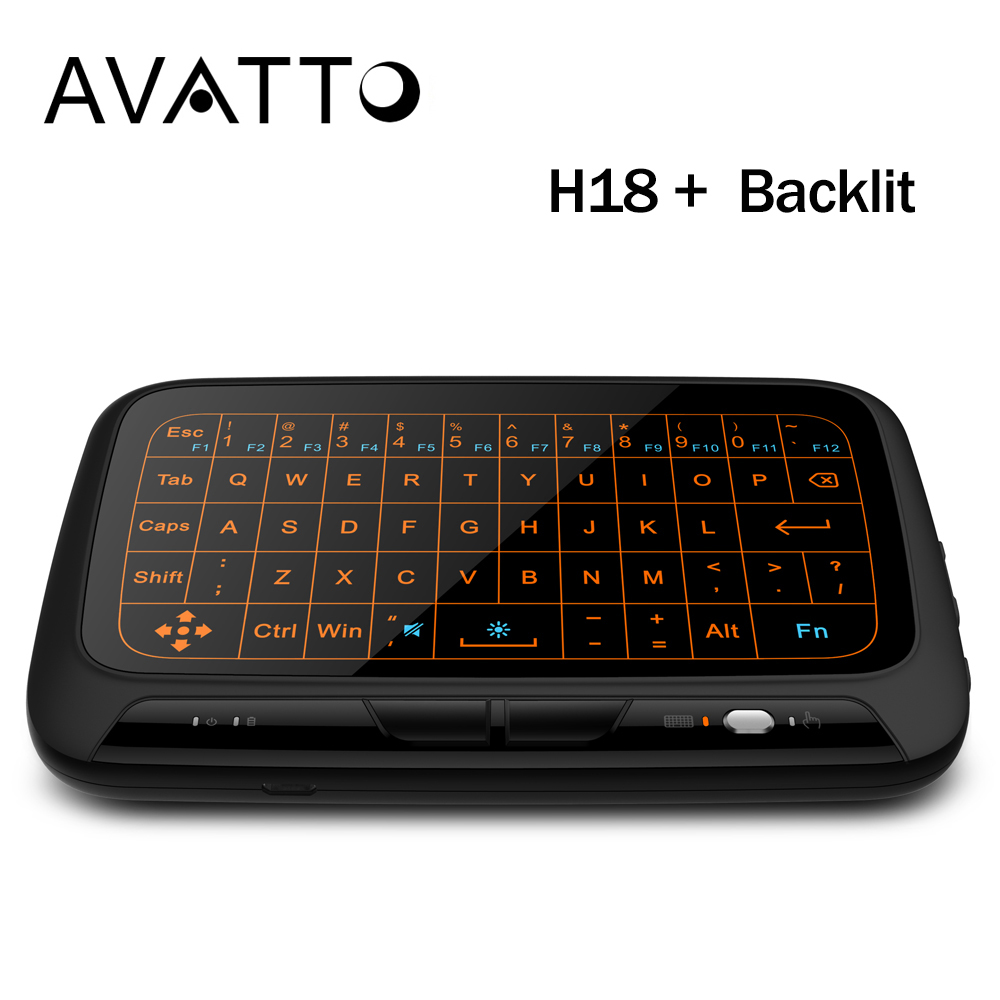 6395f6e81c  AVATTO  Big Full Touchpad Backlit Wireless mini keyboard