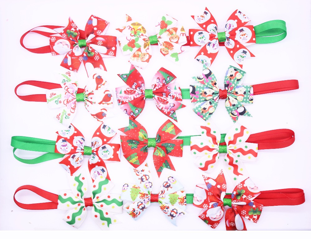 50 pcs navidad pet cat dog corbatas pajaritas lindo collar pet puppy dog cat tie