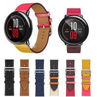 22mm del Cuoio Genuino Watch Band Strap per Xiaomi Huami Amazfit RITMO Intelligente Orologio di Ricambio fascia Da Polso strap per amazfit ritmo