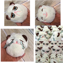 10cm Grouchy Kitten Cat Plush Clip Keychain Mini Charm Bag Pendants Angry Soft Stuffed Animal Toys Plushie Throw XD248