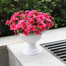 European Style Roman Pots White Color Plastic Pillars Road Flowerpots Flower Pot Wedding Props Event Decoration Supplies