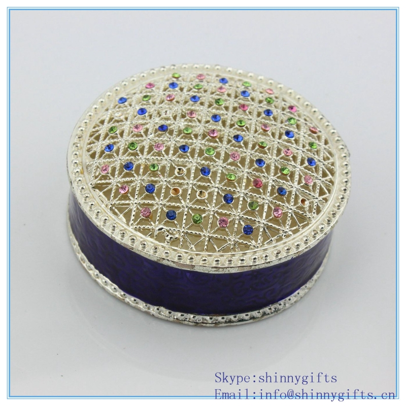 Luxury Hollow Out Crystal Trinket Box Beautiful Jewelry Box For Girls Gift