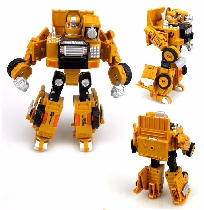 сплав инженерной автомобиль игрушки деформации трансформация робот 2 в 1 металлический сплав строительство грузовой автомобиль сборки робота детские игрушки